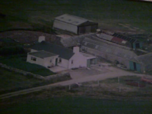 Swartaquoy, Shapinsay farmhouse from the air