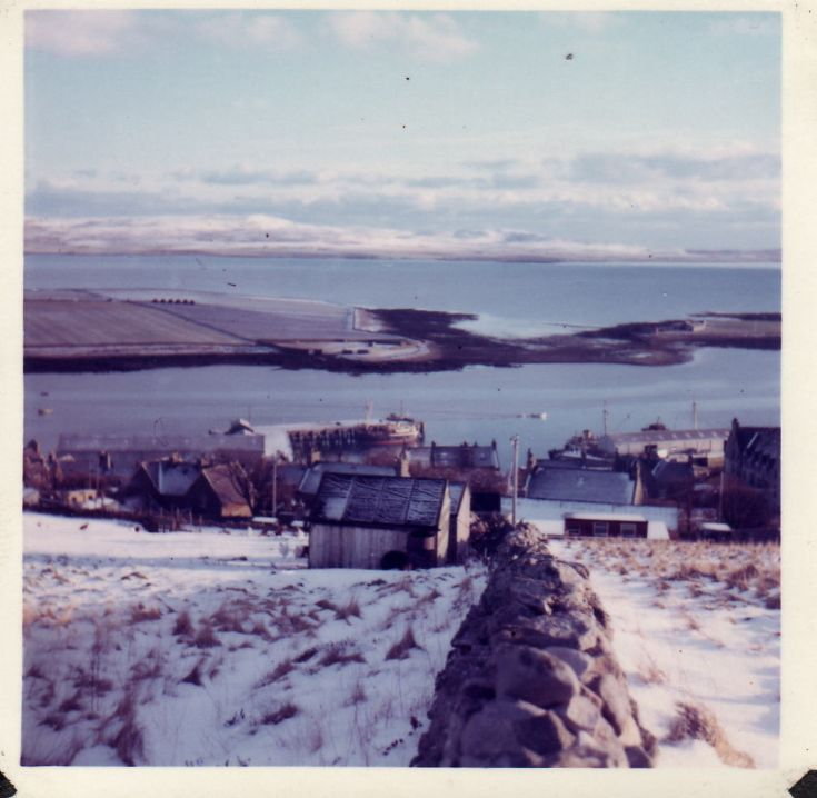 Stromness and the holms