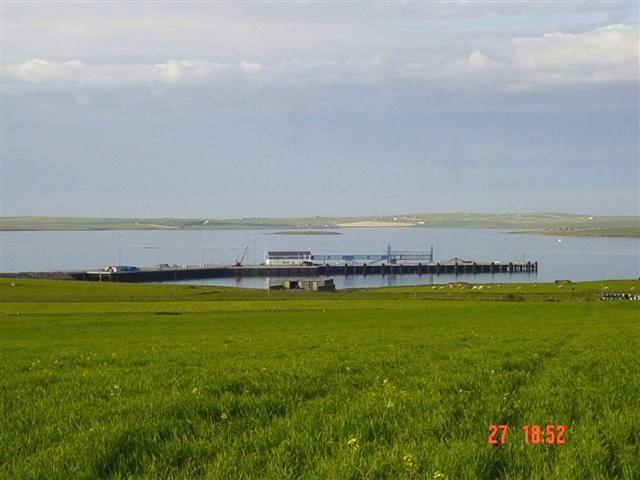 June 2004, looking from Hatston towards new pier