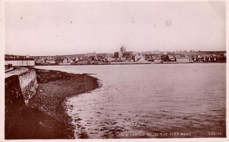 Kirkwall from the Ayre Road.