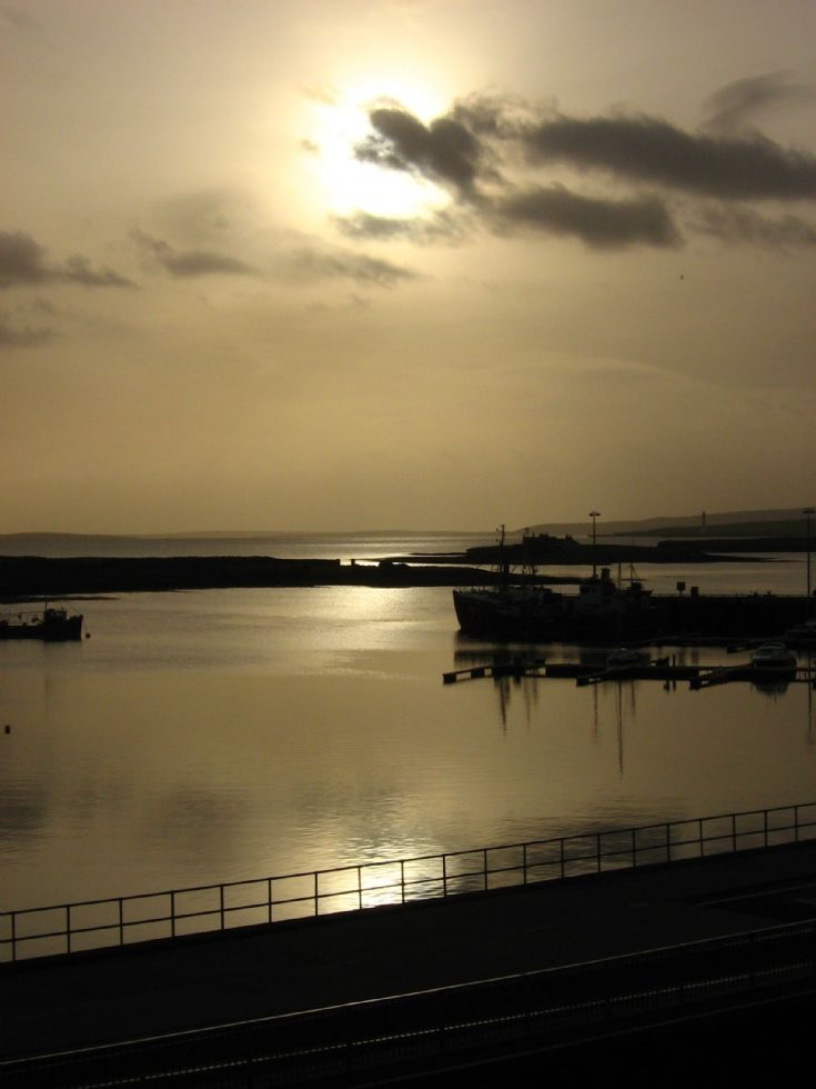 Stromness harbour from Ferry Road