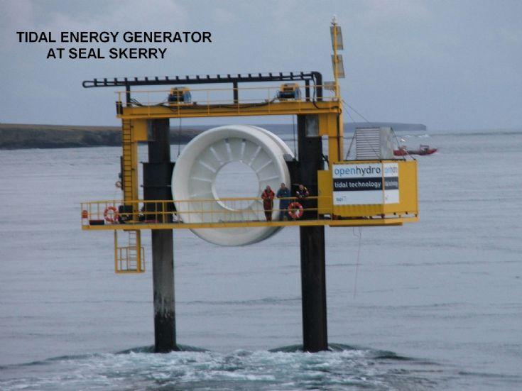 Orkney Image Library - Warness Tidal Turbine - It's big!!!