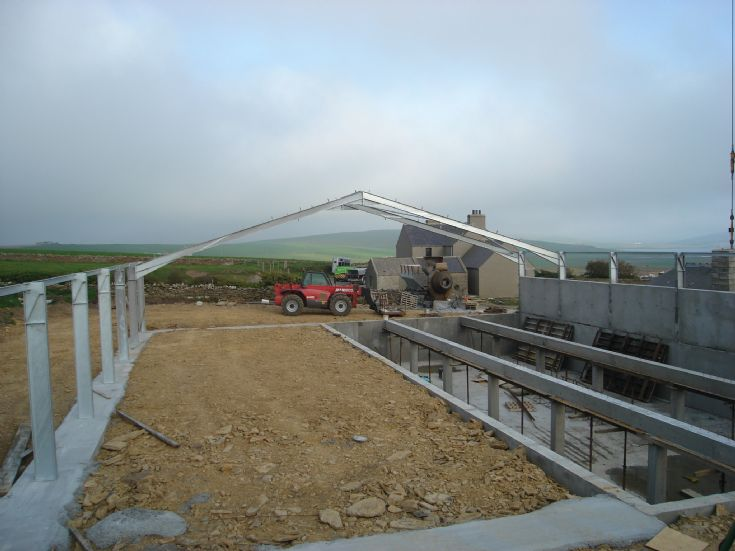 Steelwork goes up at Ingsay