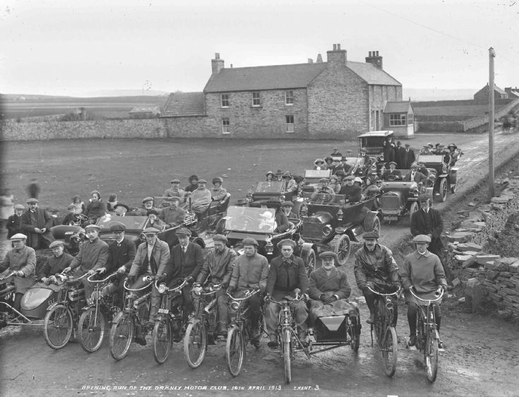 Opening run of Orkney Motor Club 18th April 1917