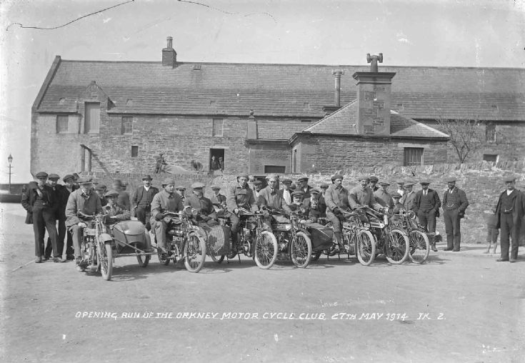 Opening run of Orkney Motor Cycle Club