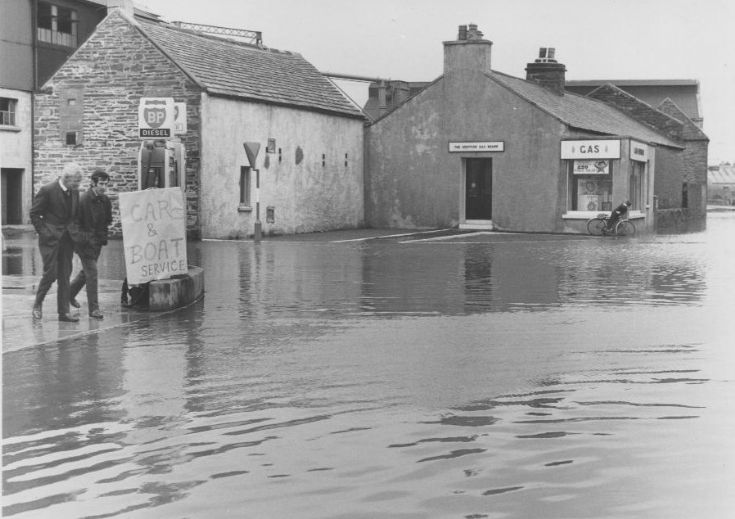 Flooding in Junction Road Kirkwall 1968 or 69, 1/2