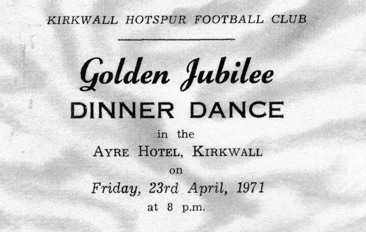 Hotspurs Golden Jubilee Ticket