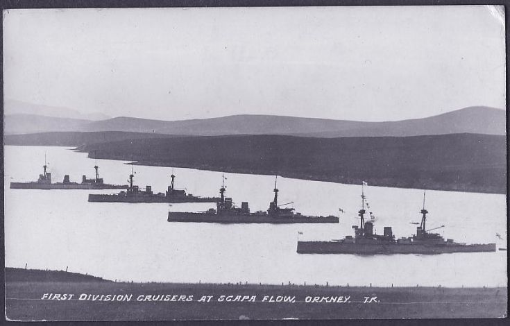 First Division Cruisers at Scapa Flow