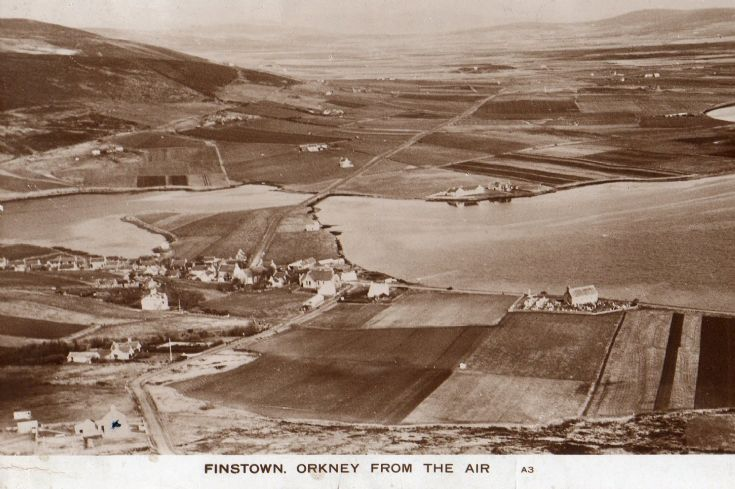 Postcard - Finstown from the air