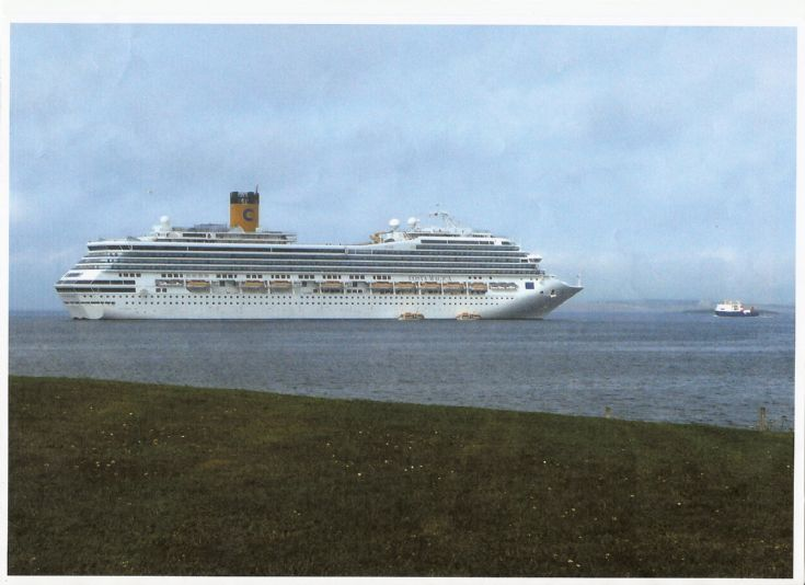 Liner in Kirkwall Bay Wed15th july