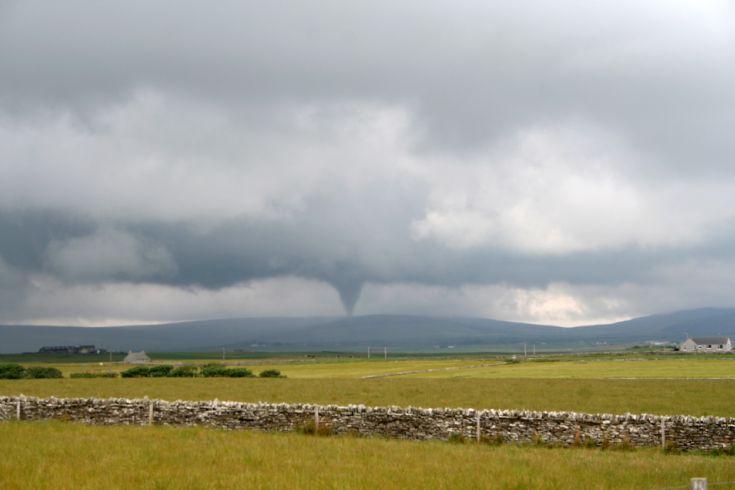 Tornado over Harray on Sunday