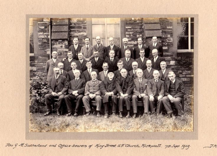 King St Church, Office Bearers, 1929