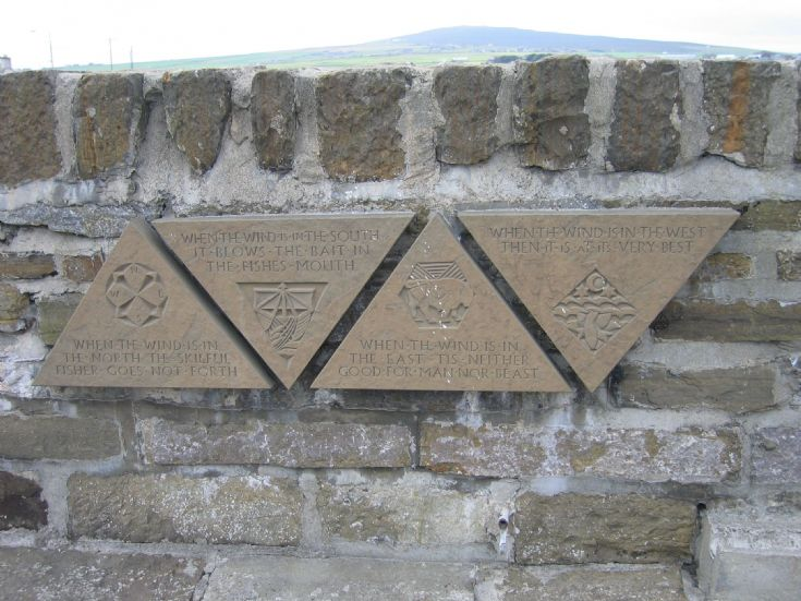 Stone scripts at Kirkwall Harbour