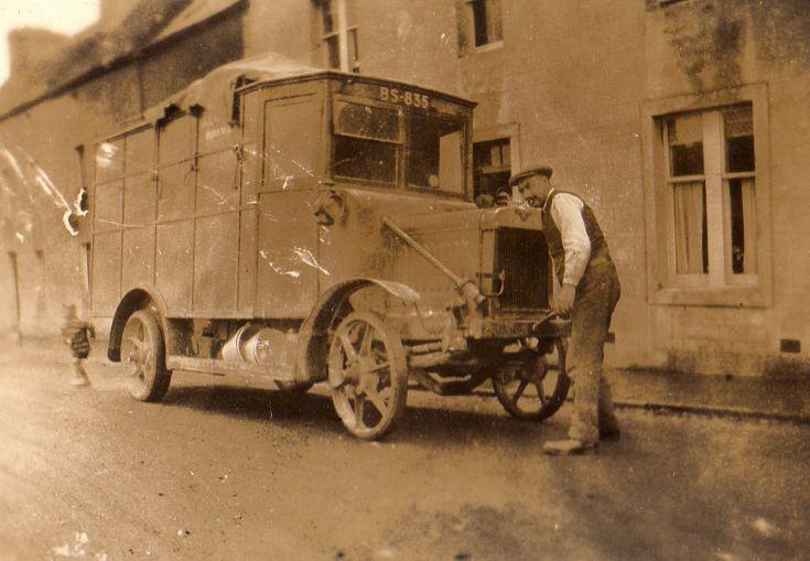 J & W Tait's Van in the High Street