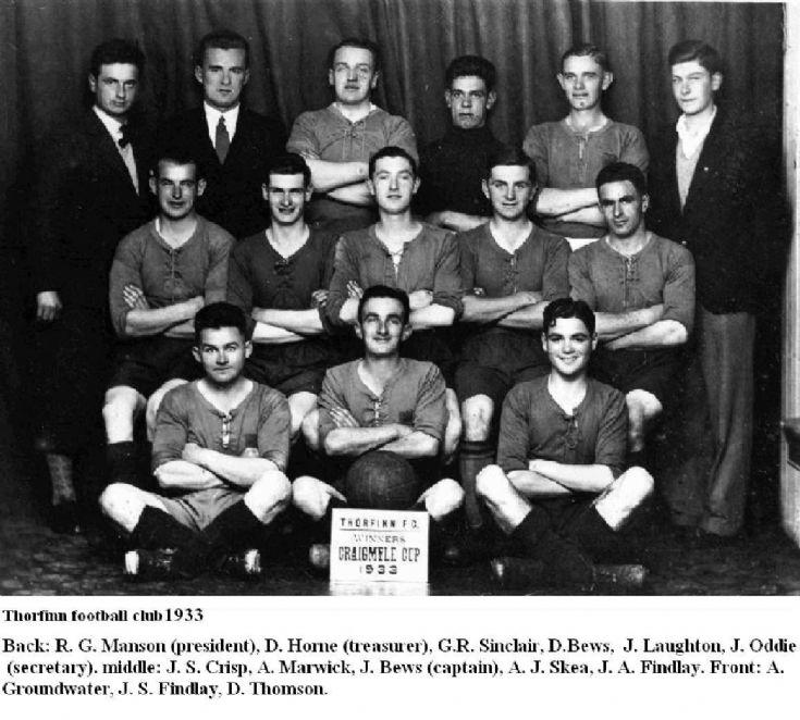 Thorfinn FC, Craigmyle Cup winners 1933