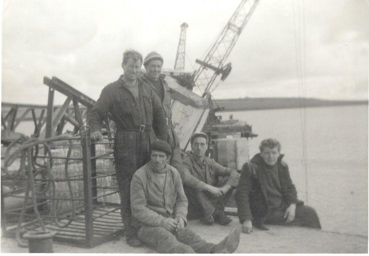 Construction men at Shapinsay pier