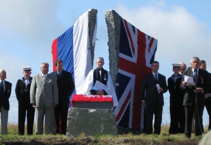Arctic Convoys Memorial unveiling