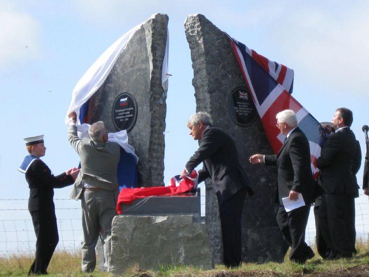 Arctic Convoys Memorial unveiled