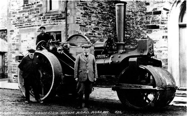 Orkney County Council's steam road roller.