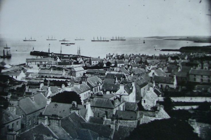 British wooden man o' war ships in Kirkwall Bay