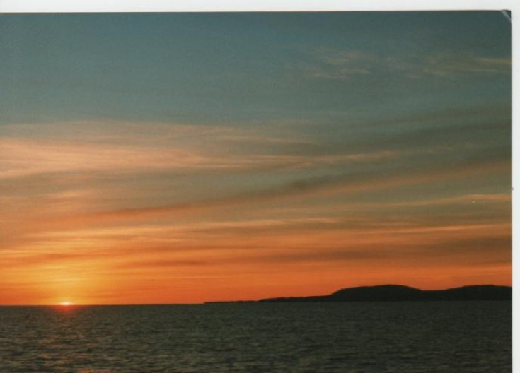 Sunset on the Pentland Firth,