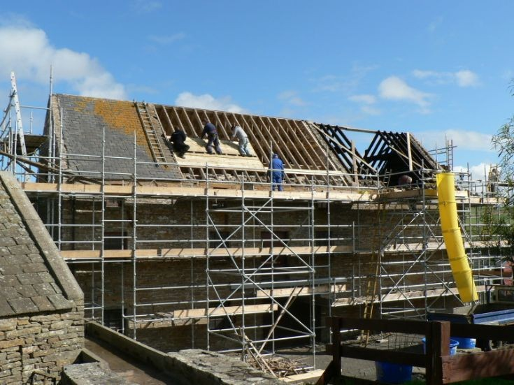 Re-roofing the Barony Mill