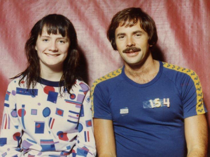Jane Baikie with swimmer David Wilkie
