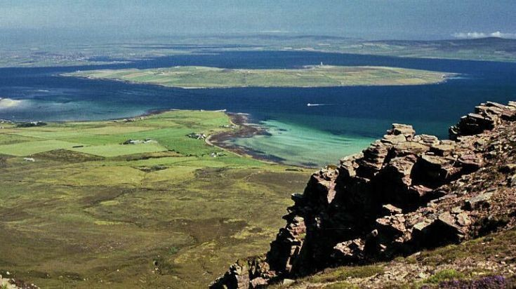 Graemsay and Mainland from Hoy