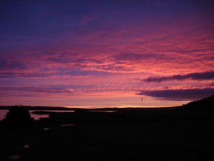 Across the Harray Loch