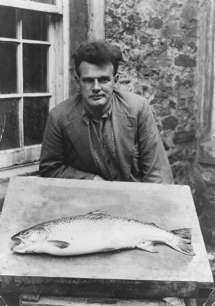 Large sea trout with unknown captor