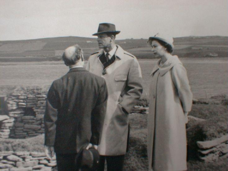 HM The Queen & Prince Phillip visit Skara Brae