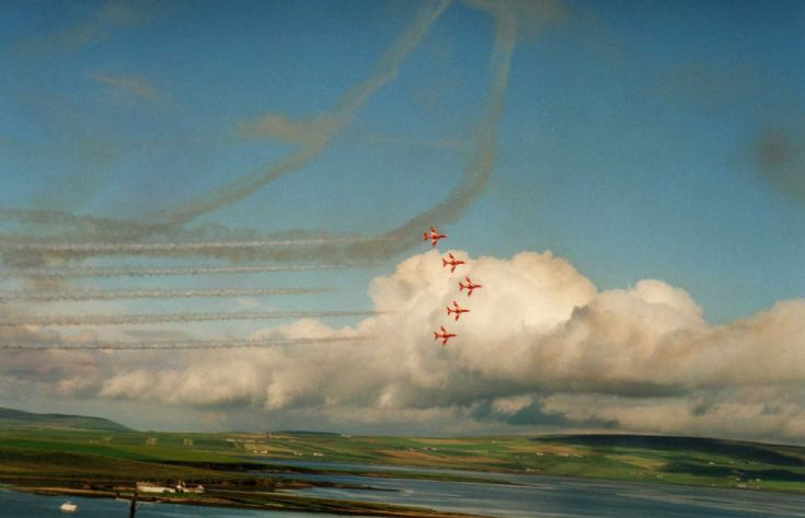 Red Arrows over Stromness