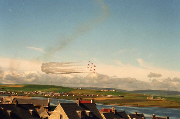 Red Arrows over Stromness 2