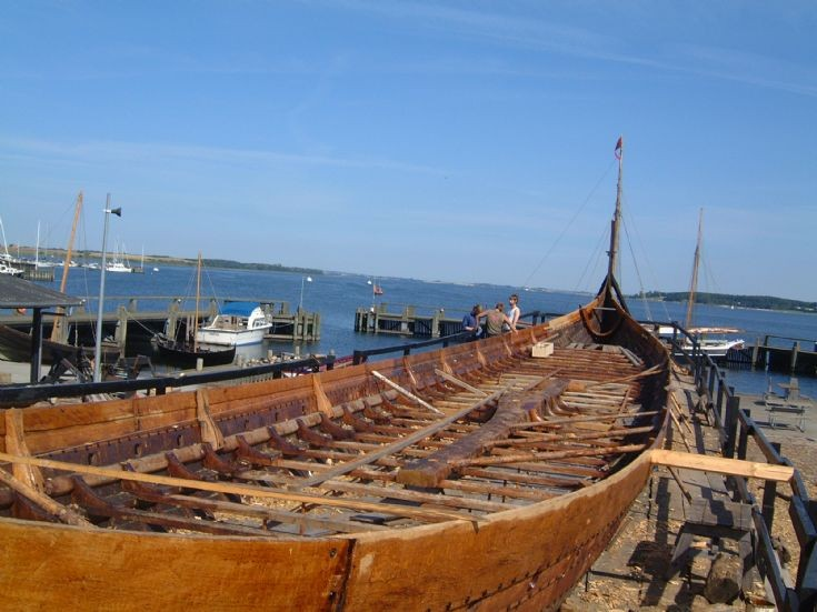 Viking longship under construction