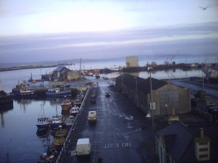 View down the pier from the Kirkwall