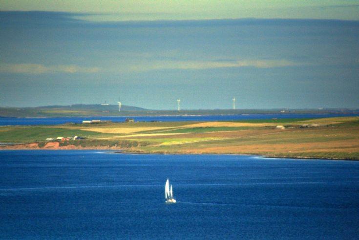 Sailing past Shapinsay