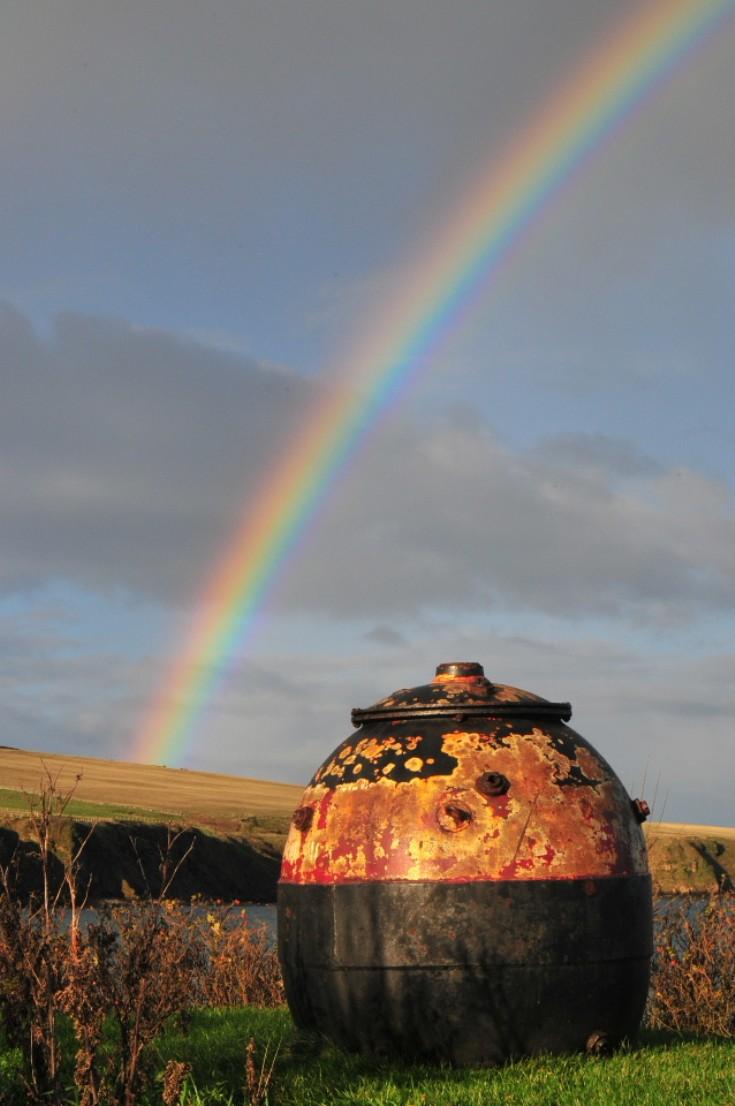 Rainbow ending at Berstane