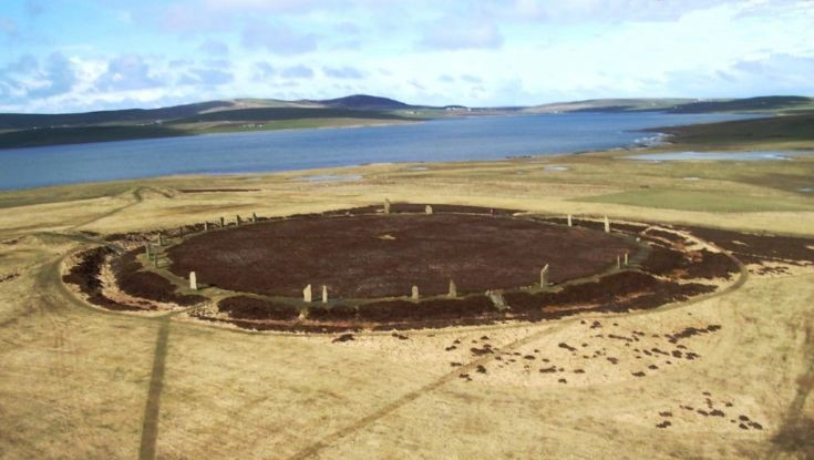 Ring of Brodgar, from a kite