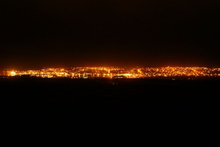Kirkwall lights from Wideford