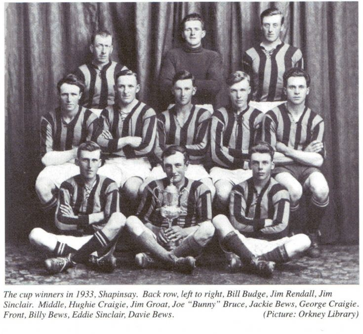 Shapinsay Parish Cup winners of 1933