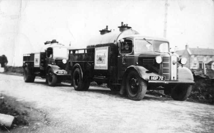 Oil Trucks at Dounby on road opposite old shop