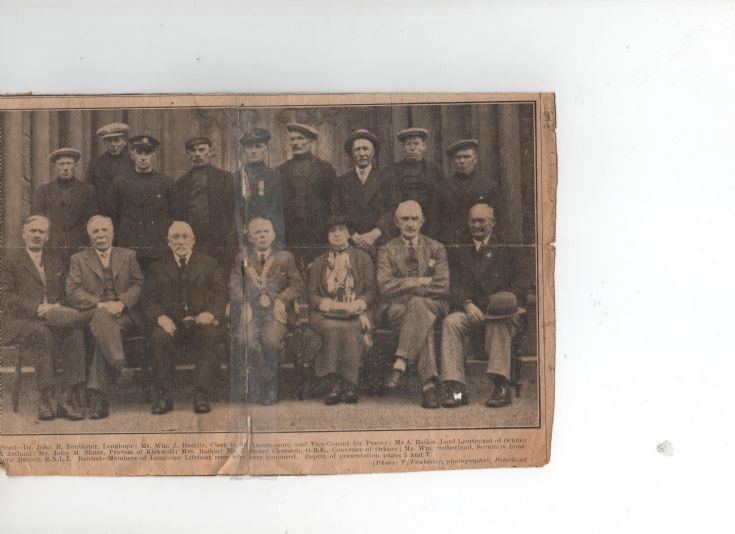 Crew of lifeboat Thomas McCunn 1936