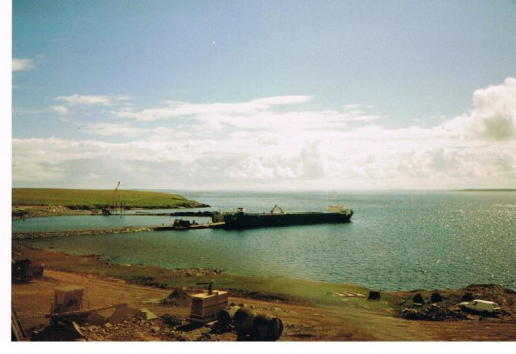 The new ferry terminal being constructed at Loth