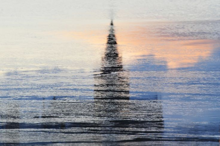 Reflection of the Cathedral on the Peedie sea
