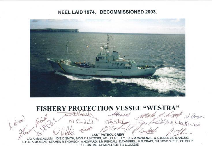Last patrol of FPV Westra,