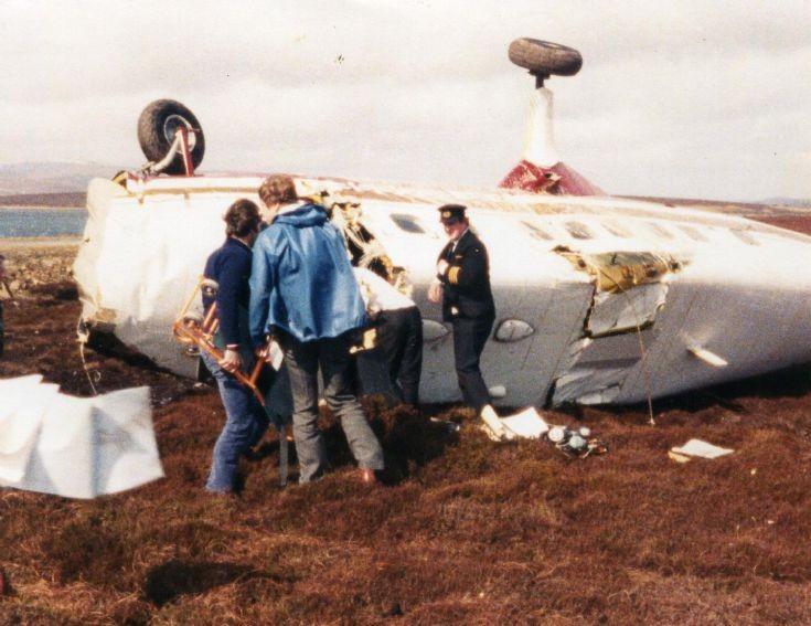 Plane crash on Flotta