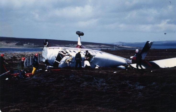 Plane crash on Flotta