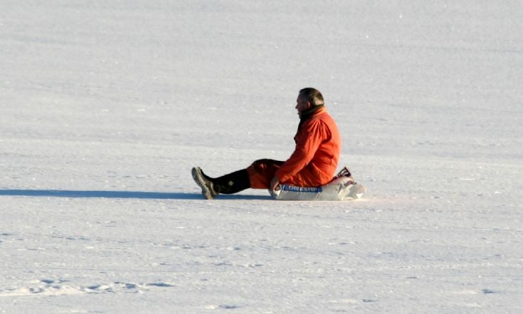 Not everyone has a sledge!