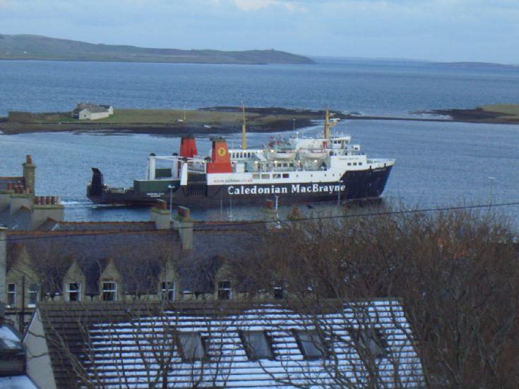 Hebridean Isles leaving Stromness Harbour