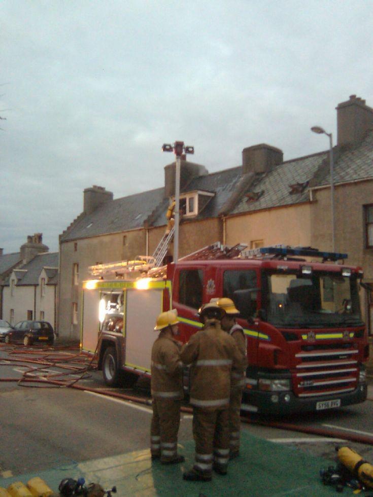 House fire, High Street, Kirkwall